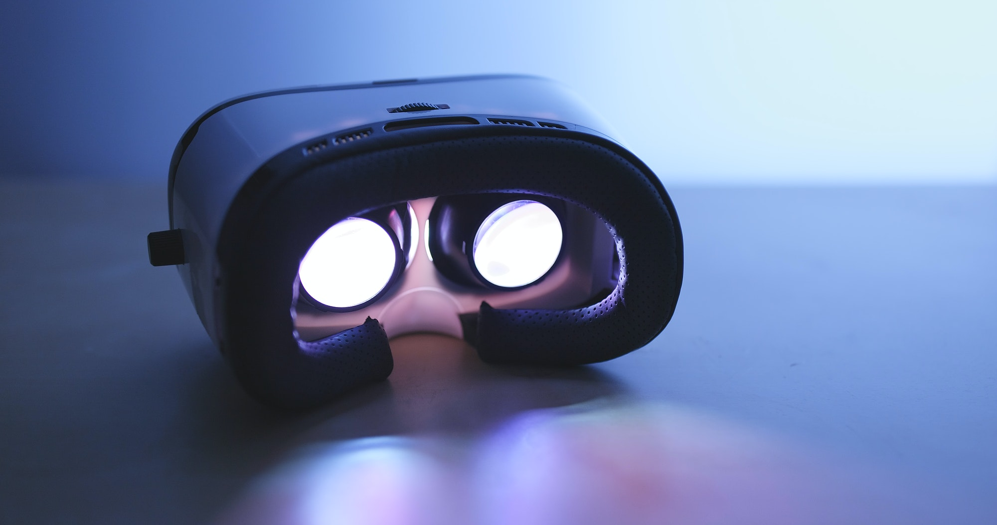 VR device playing movie inside